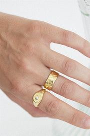 18 Karat Lattice Ring