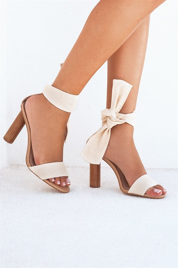 SAMPLE-Rehana Heels - Cream