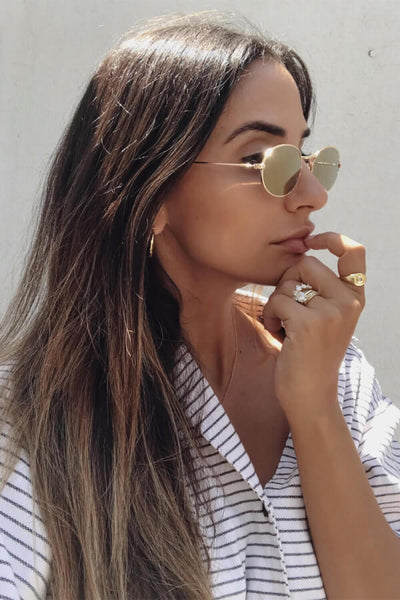 Klaudia Sunglasses - Gold