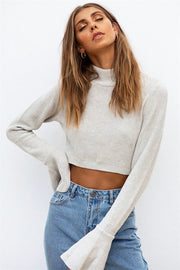 Bardot Knit Top - Grey