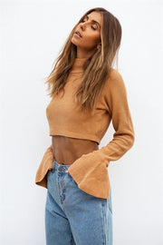 Bardot Knit Top - Orange