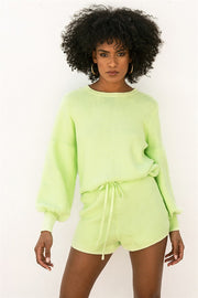 SAMPLE-Lime Knit Top