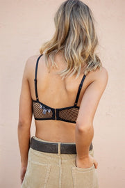 Mesh Wire Bralette - Black