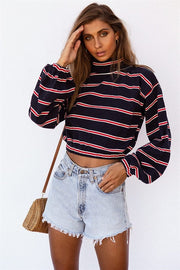 Midnight Stripe Top