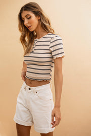 Nadia Stripe Top