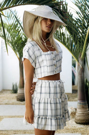 Plaid Inka Top