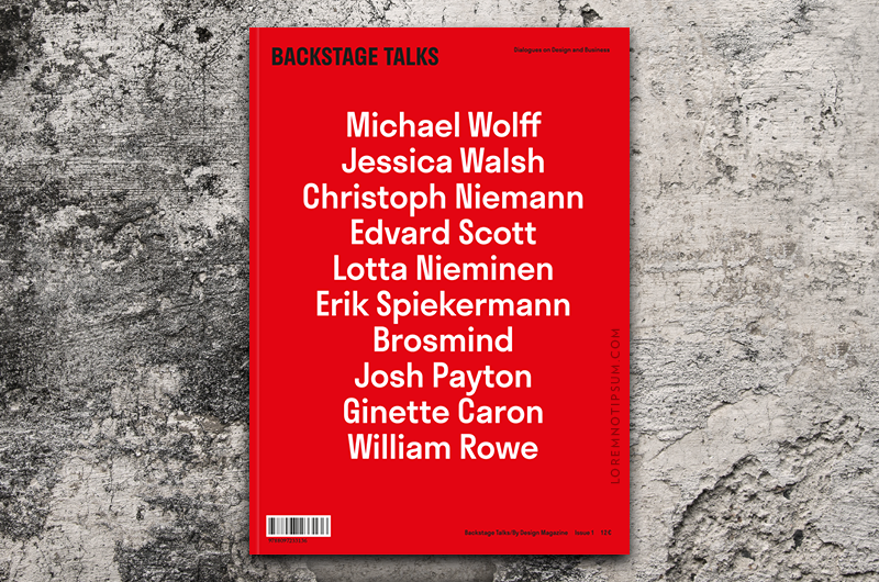 Backstage Talks Issue 1 – Bestellen bei LOREM (not Ipsum) in Zürich (Schweiz)