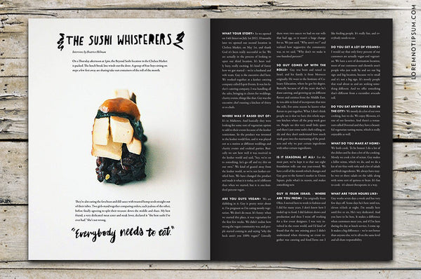 Chickpea Magazine Issue 13 (Fall 2014) - Bestellen bei LOREM (not Ipsum) - Bern (Schweiz)