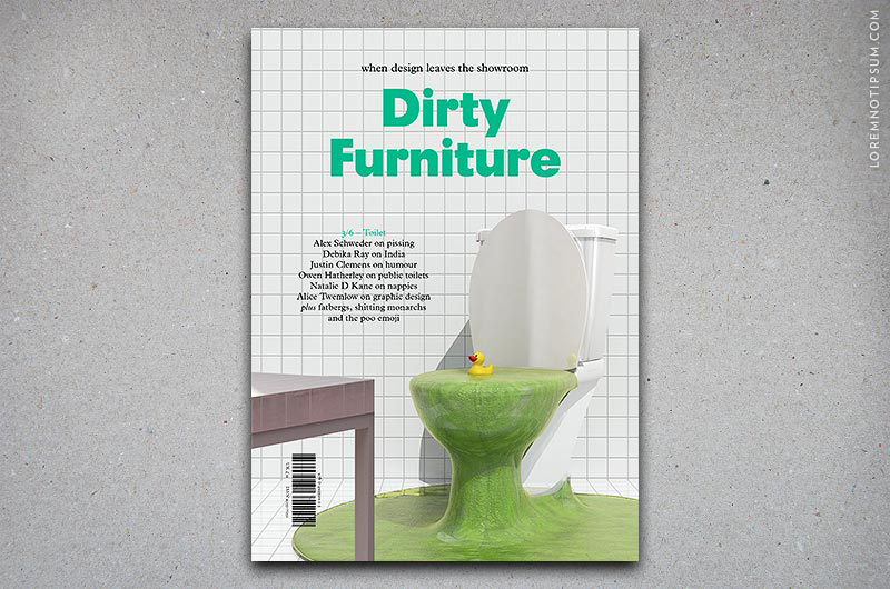 Dirty Furniture Issue 3/6 (Toilet) – Bestellen bei LOREM (not Ipsum) in Zürich (Schweiz) – loremnotipsum.com