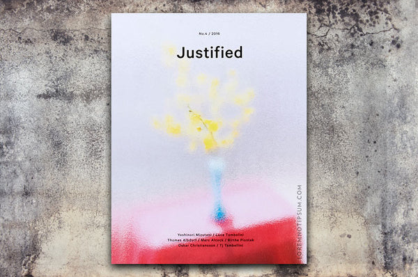 Justified Magazine No. 4 – Bestellen bei LOREM (not Ipsum) in Zürich (Schweiz)