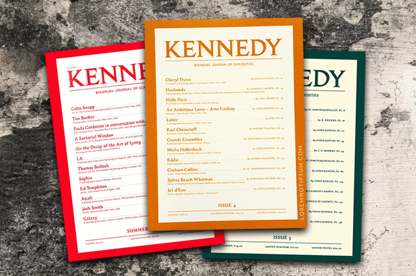 Kennedy Magazine Bundle – Issue 2, 3 and 4 – Bestellen bei LOREM (not Ipsum) in Zürich (Schweiz)