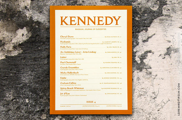 Kennedy Magazine Issue 4 – Bestellen bei LOREM (not Ipsum) in Zürich (Schweiz)