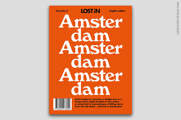 Lost in Amsterdam (The Travel Guide) – Bestellen bei LOREM (not Ipsum) in Bern (Schweiz)