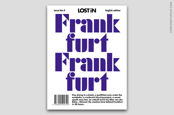 Lost in Frankfurt (The Travel Guide) – Bestellen bei LOREM (not Ipsum) in Zürich (Schweiz)