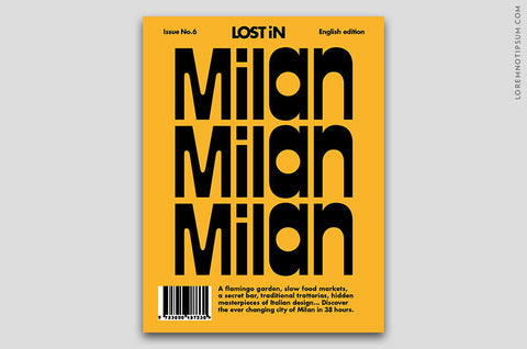 Lost in Milan (The Travel Guide) – Bestellen bei LOREM (not Ipsum) in Zürich (Schweiz)
