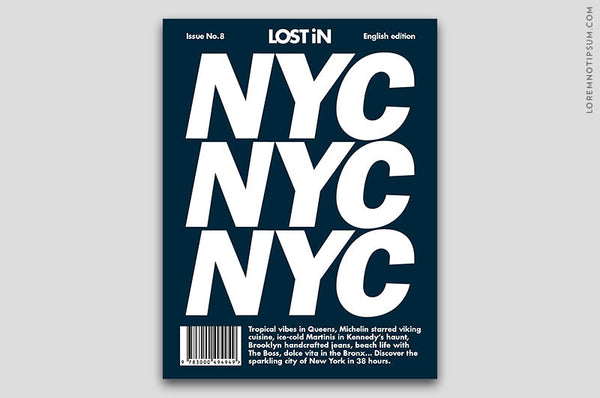 Lost in New York (The Travel Guide) – Bestellen bei LOREM (not Ipsum) in Zürich (Schweiz)