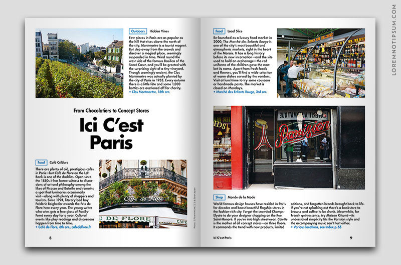 Lost in Paris (The Travel Guide) – Bestellen bei LOREM (not Ipsum) in Zürich (Schweiz) – loremnotipsum.com