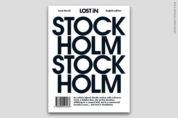 Lost in Stockholm (Travel Guide) – Bestellen bei LOREM (not Ipsum) in Zürich (Schweiz)