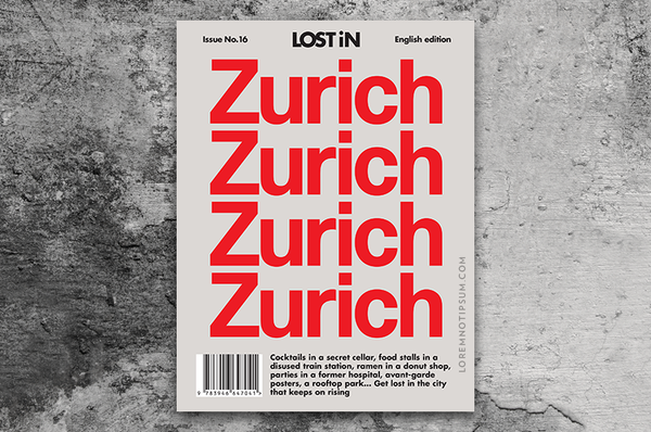 Lost in Zurich (Travel Guide) – Bestellen bei LOREM (not Ipsum) in Zürich (Schweiz)