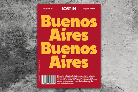 Lost in Buenos Aires The Travel Guide – Bestellen bei LOREM (not Ipsum) in Zürich (Schweiz)