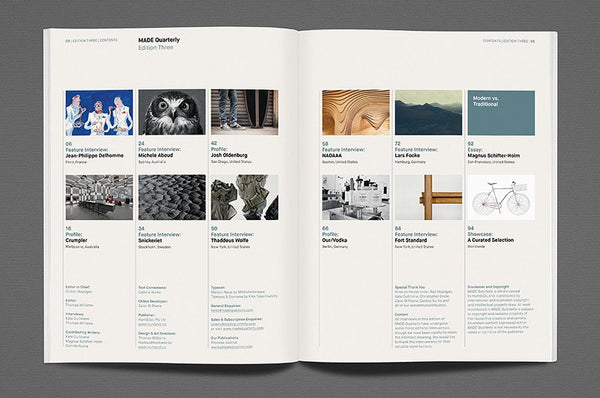 MADE Quarterly Issue 3 - Bestellen bei LOREM (not Ipsum) - Bern (Schweiz)