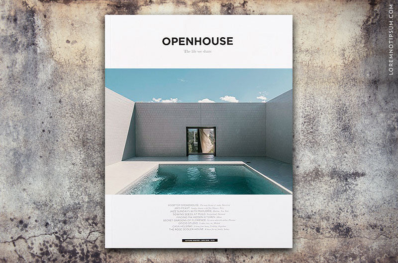 Openhouse Magazine Issue 5 – Bestellen bei LOREM (not Ipsum) in Zürich (Schweiz)