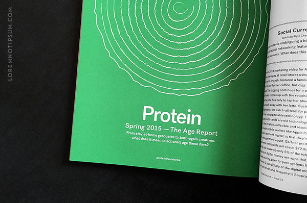 Protein Journal Issue 15 - Bestellen bei LOREM (not Ipsum) - Bern (Schweiz)