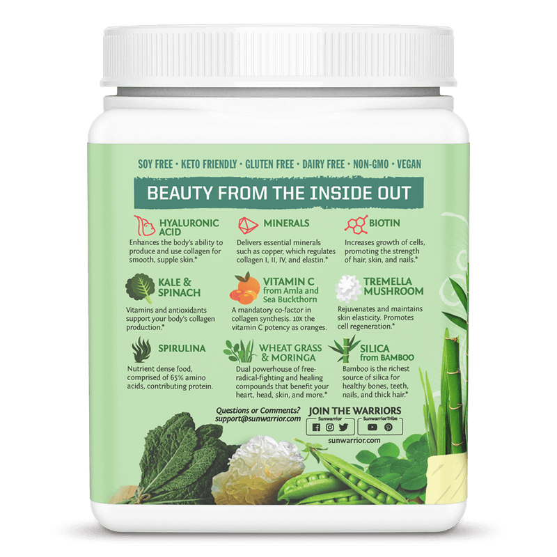 Sunwarrior Beauty Greens Collagen Booster Inhaltsstoffe