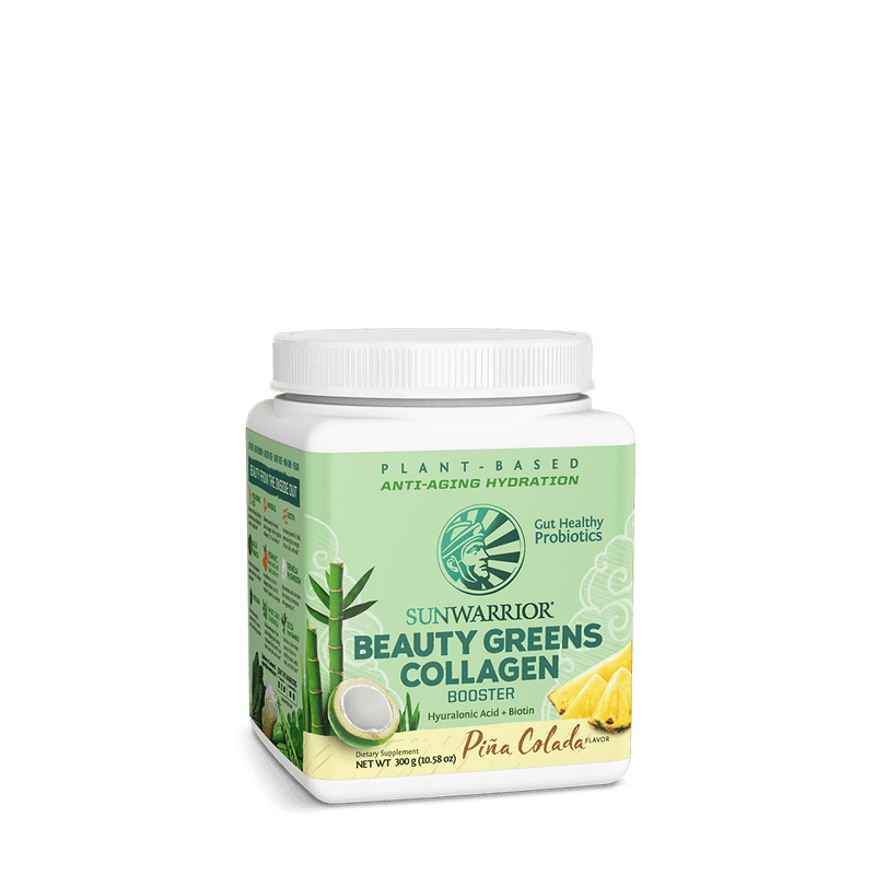 Sunwarrior Beauty Greens Collagen Booster front-tilted