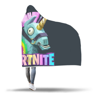 Fornite Loot Llama Hoodie Hooded Blanket