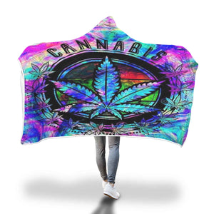 Weed Hoodie Hooded Blanket Marijuana Leaf