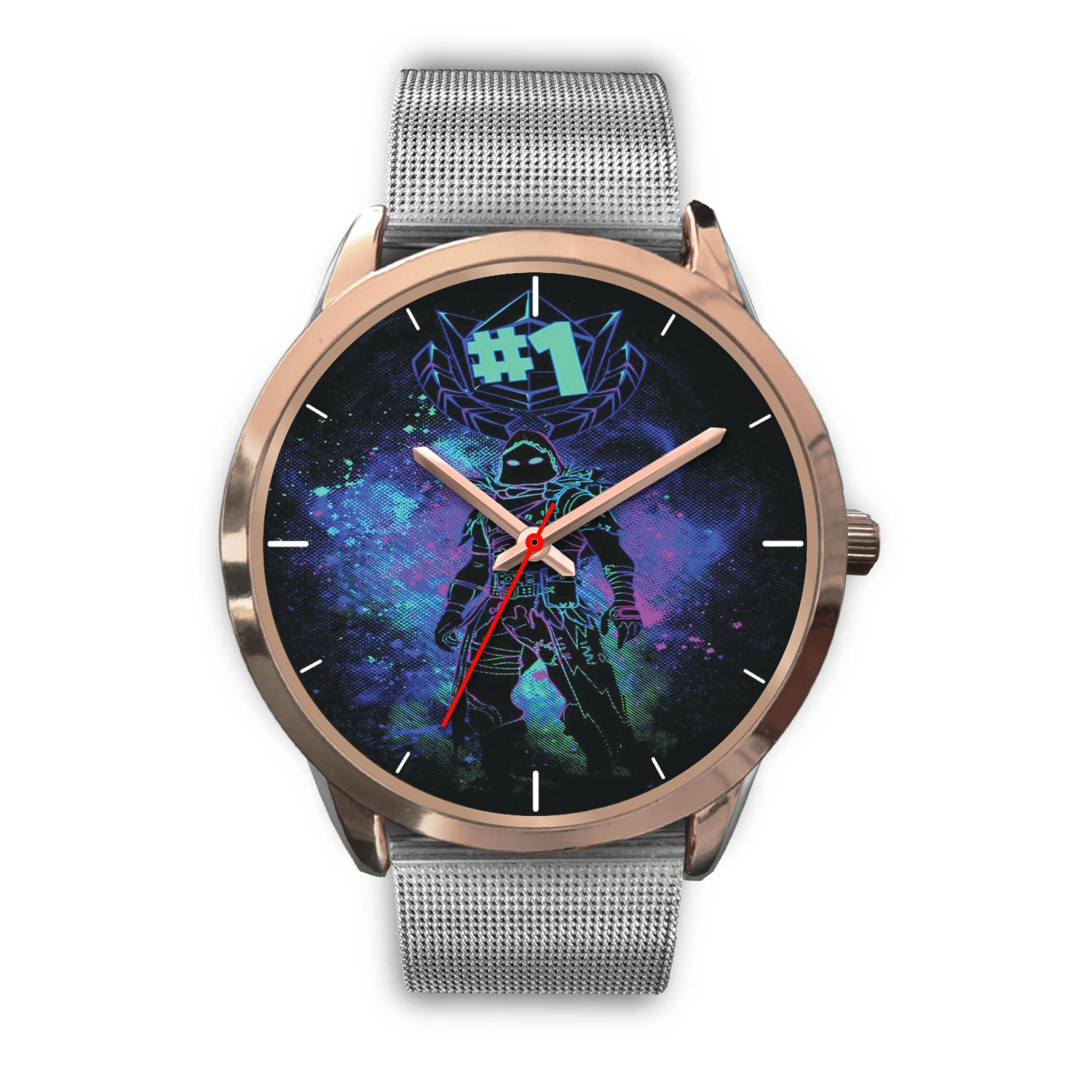 Fortnite Watch Raven Art Rose Gold