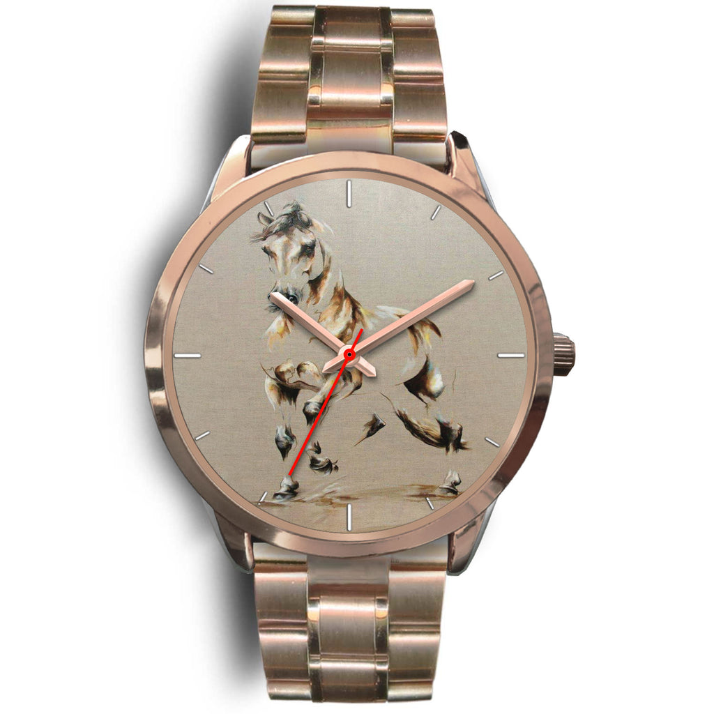 Horse Rose Gold Watch