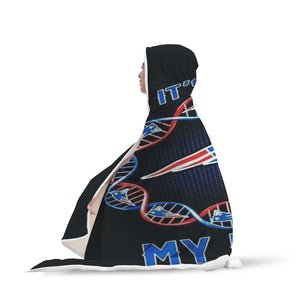 England Patriots Blanket Hooded MY DNA