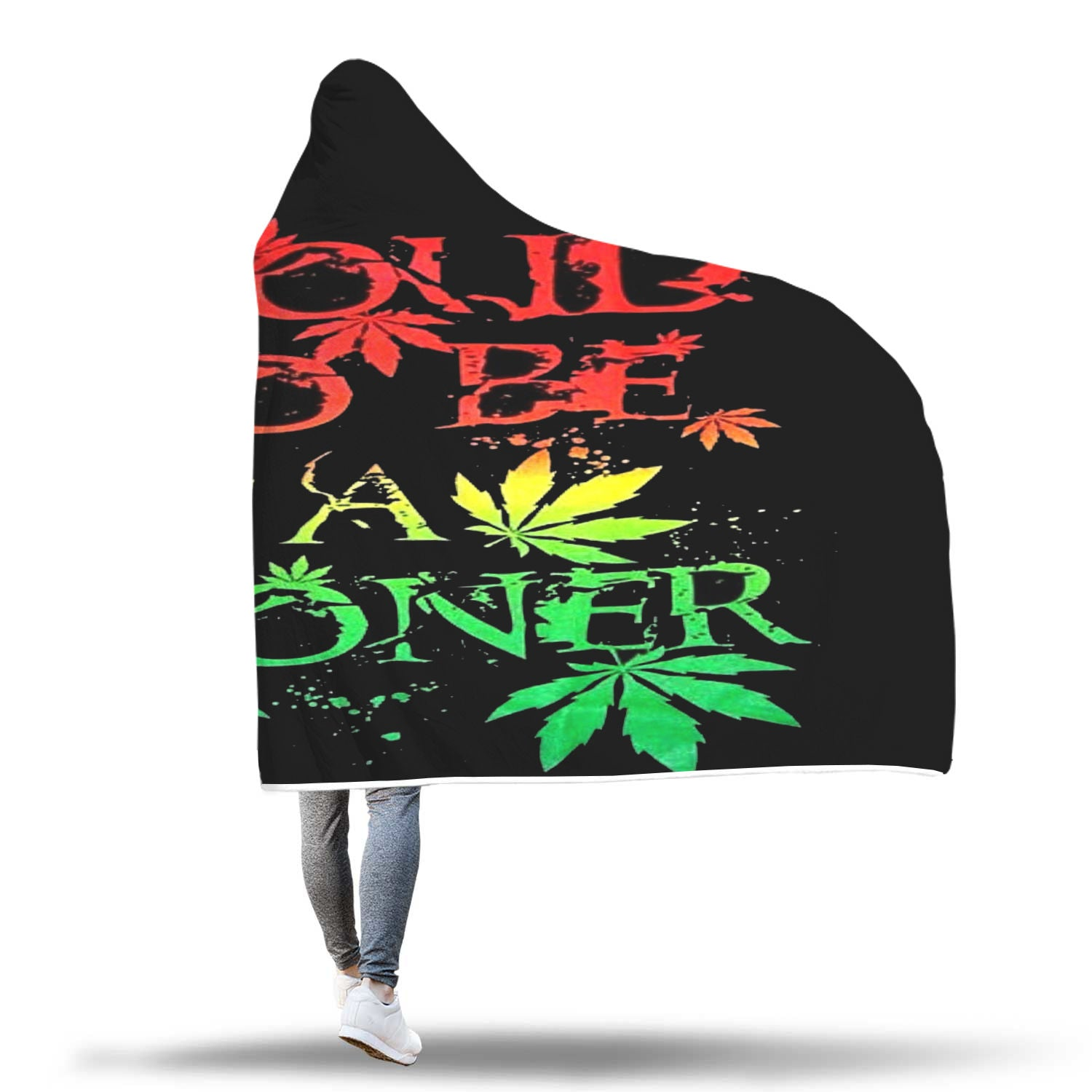 Weed Blanked Hooded Stoner