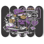 Skateboard Wall Art Decor Crazy Monkey Set Of 5