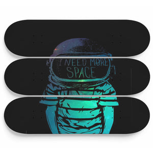 Skateboard Wall Art Decor I Need More Space Set Of 3