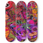 Skateboard Wall Art Weed Decor Set Of 3