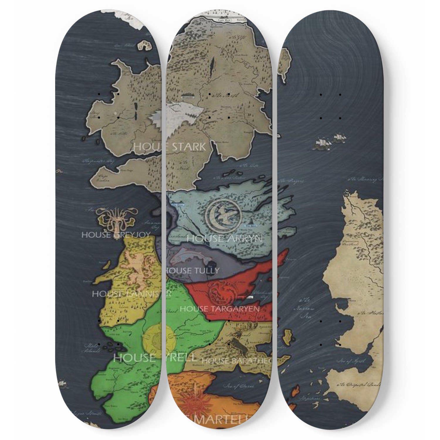 Game of Thrones Skateboard Wall Art Set Of 3