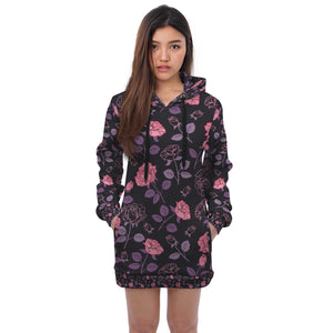 Pink Rose Hoodie Dress