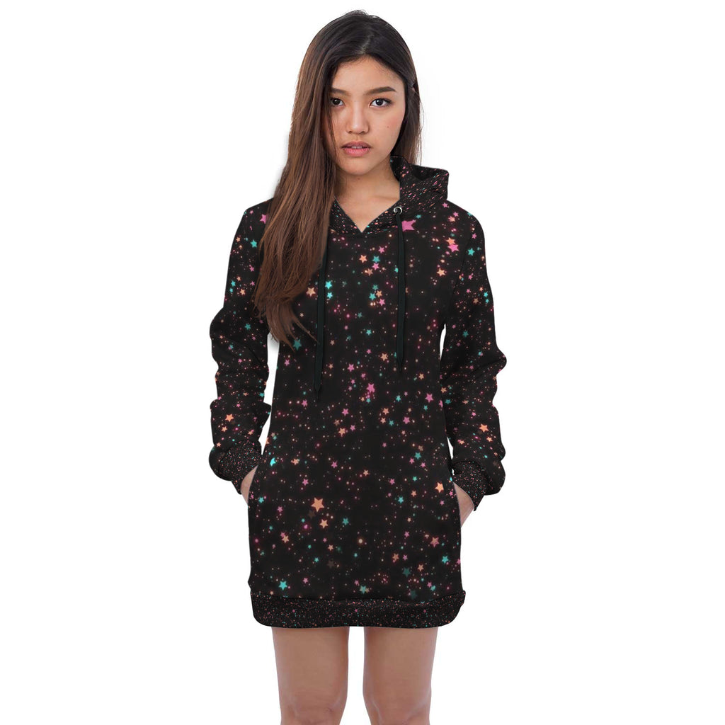 Stars Space Hoodie Dress