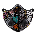 Graffiti Face Mouth Mask Outdoor Protective Mask