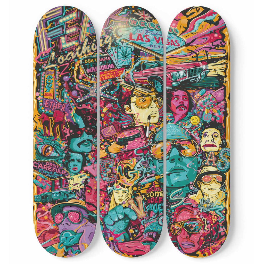 Skateboard Wall Art Fear and Loathing in Las Vegas Tribute