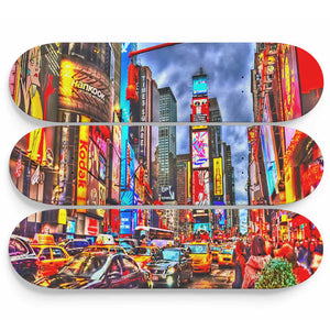 New York 3 Skateboard Wall Art