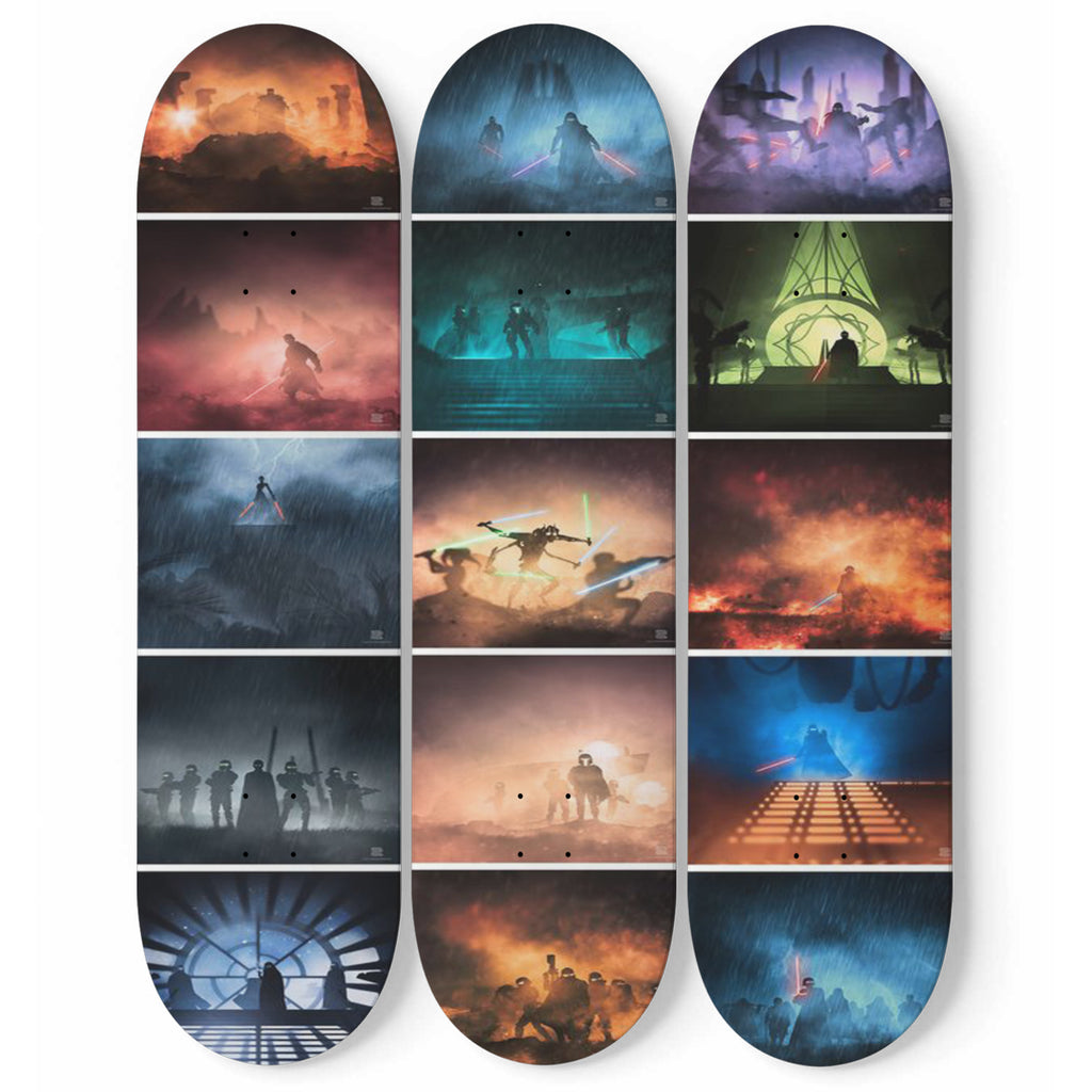 Star Wars Scenes 3 Skateboard Wall Art