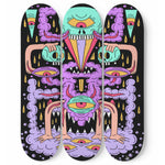 Space Cloud Creature  Skateboard Wall Art