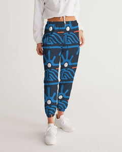 Hand Made Tribal Pattern Dark Blue Women's Track Pants