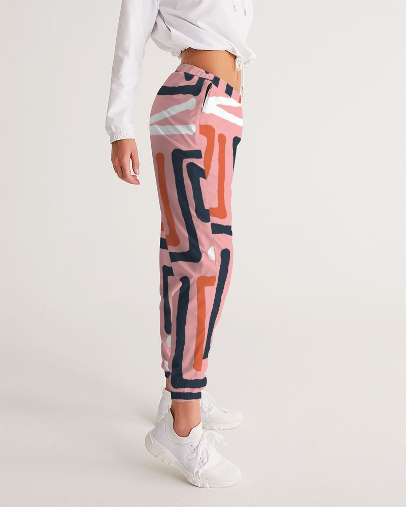 Hand Made Triba Seamless Pattern pink 1 Women's Track Pants