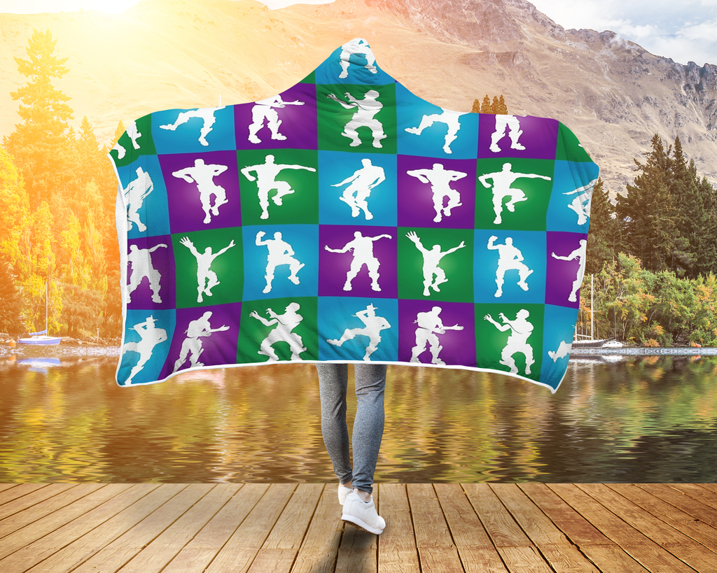 Fortnite Hoodie Hooded Blanket Dancing 2