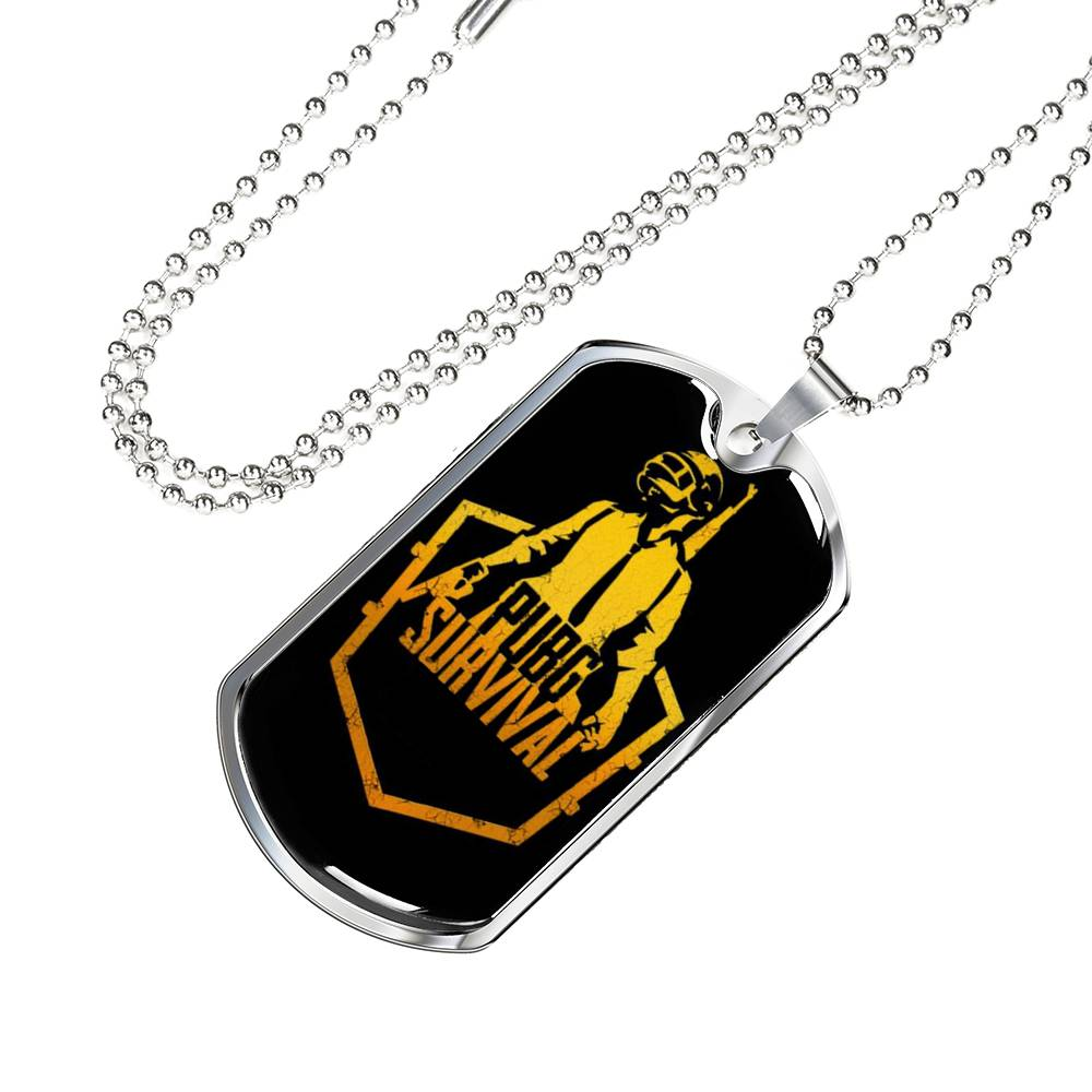 PubG Necklace Survival Dog Tag